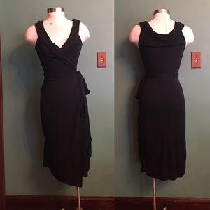 Diane von Furstenberg Sleeveless Black Wrap Dress